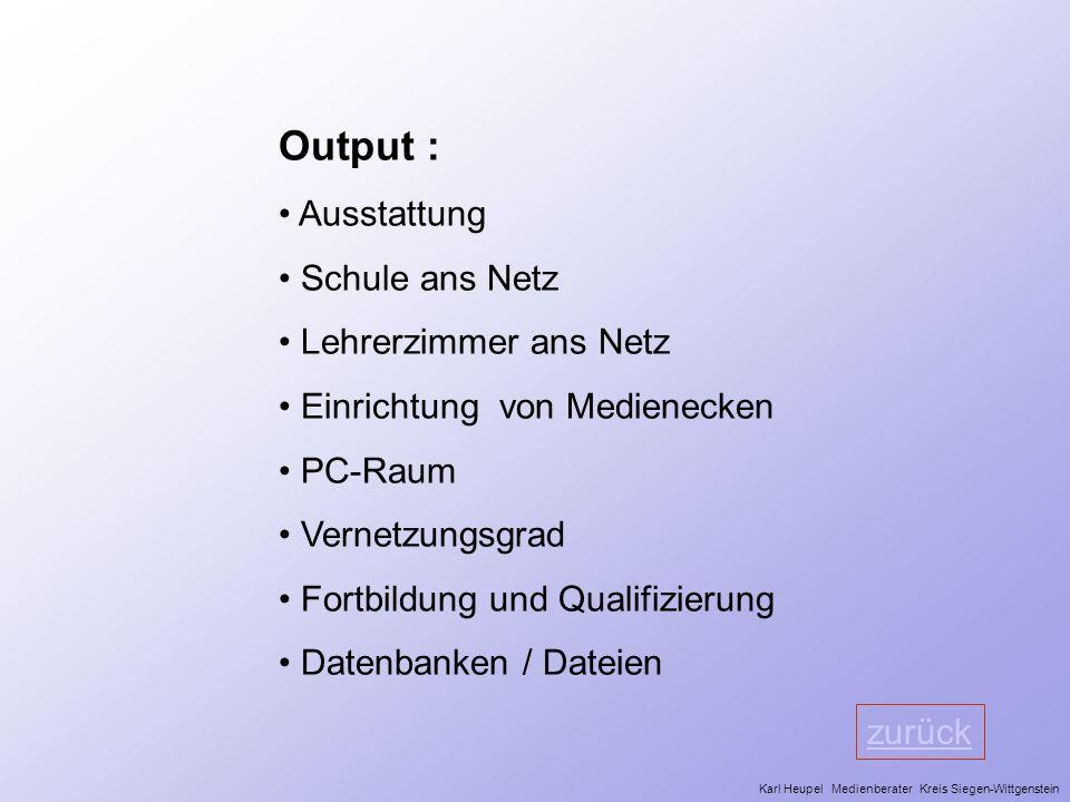 Output : Ausstattung Schule ans Netz Lehrerzimmer ans Netz