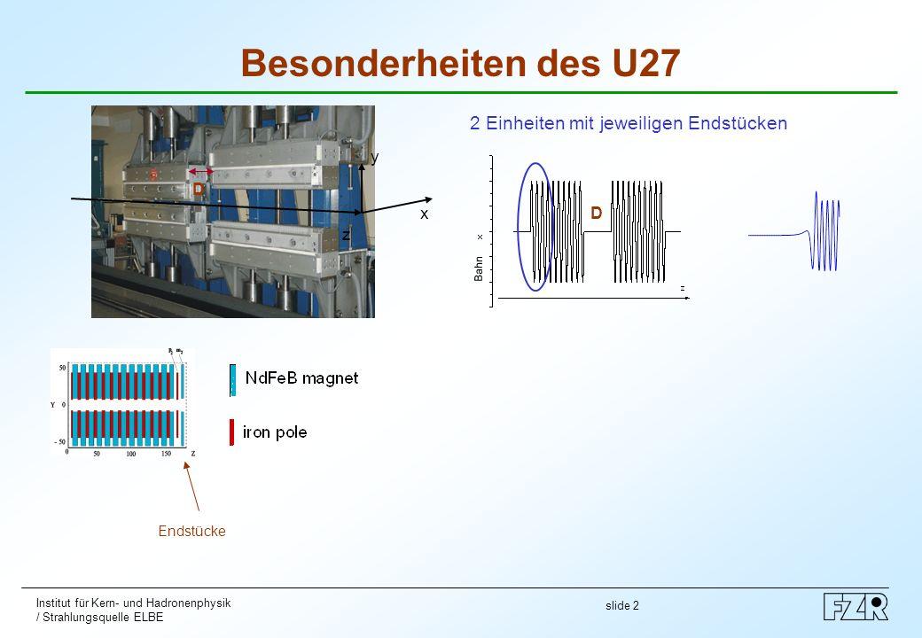 Besonderheiten des U27 2 Einheiten mit jeweiligen Endstücken z x y D D
