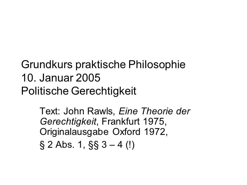 Grundkurs praktische Philosophie 10