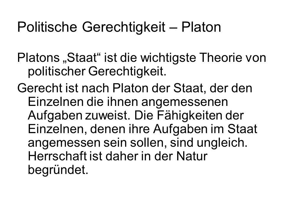 Politische Gerechtigkeit – Platon