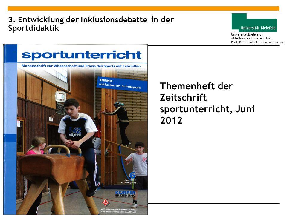3. Entwicklung der Inklusionsdebatte in der Sportdidaktik
