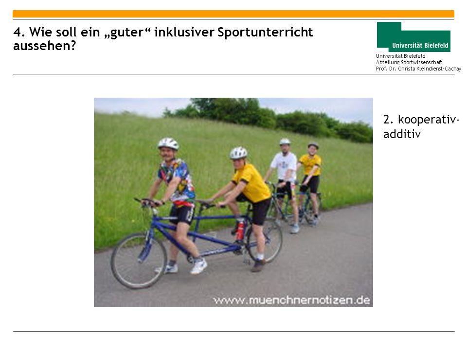 """4. Wie soll ein """"guter inklusiver Sportunterricht aussehen"""