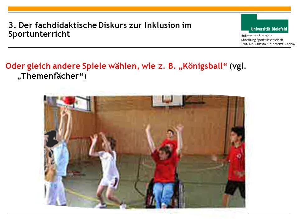 3. Der fachdidaktische Diskurs zur Inklusion im Sportunterricht