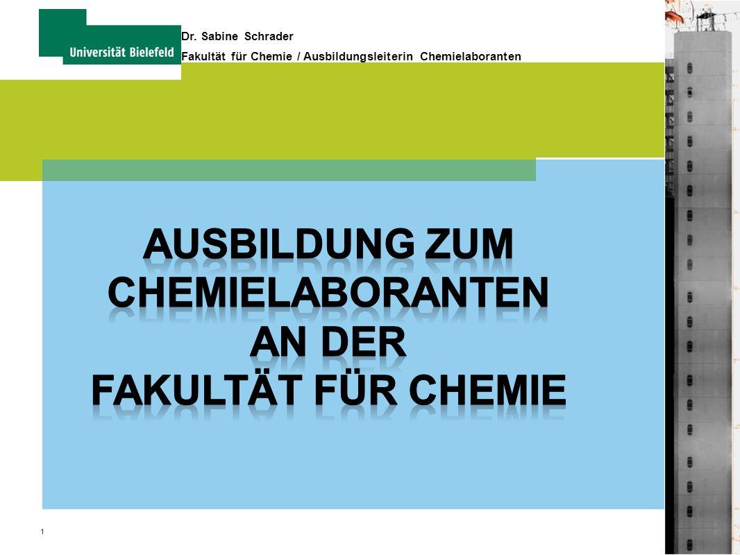 Ausbildung zum Chemielaboranten An der Fakultät für Chemie