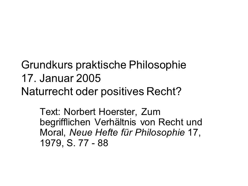 Grundkurs praktische Philosophie 17