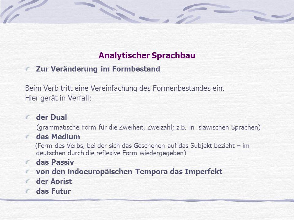Analytischer Sprachbau
