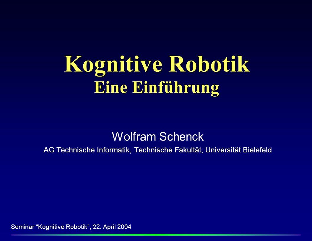 Kognitive Robotik Eine Einführung