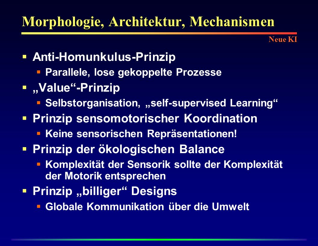 Morphologie, Architektur, Mechanismen