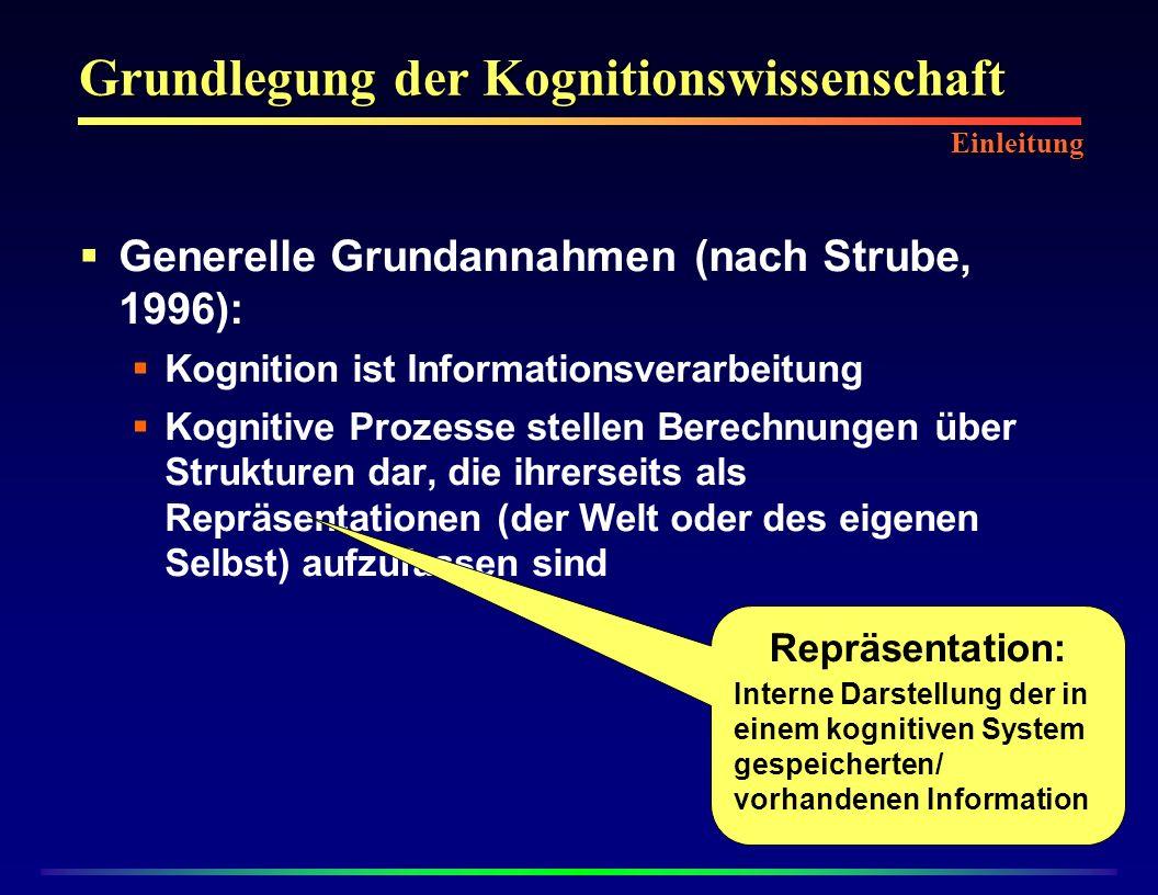 Grundlegung der Kognitionswissenschaft
