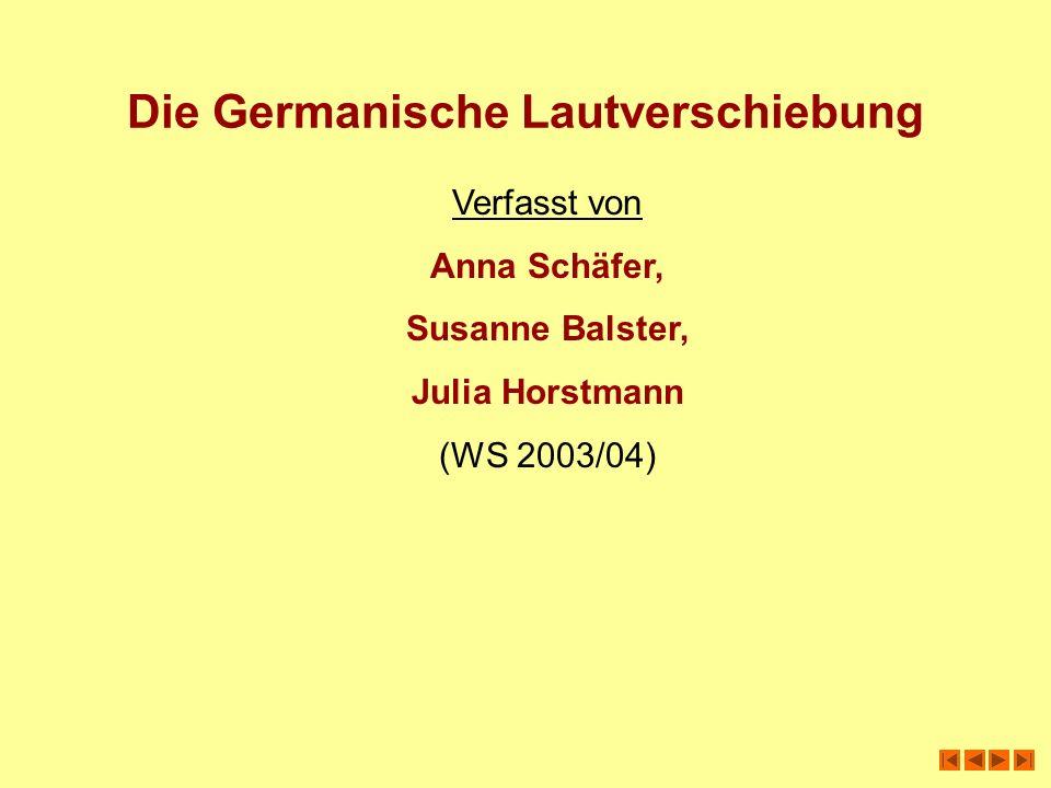 Die Germanische Lautverschiebung