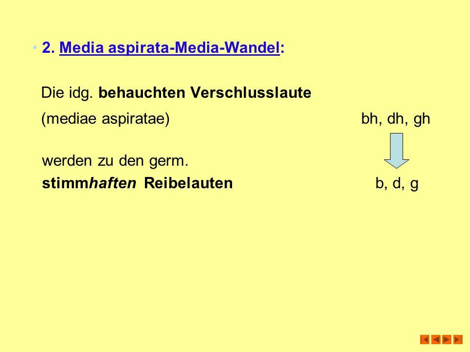 2. Media aspirata-Media-Wandel: