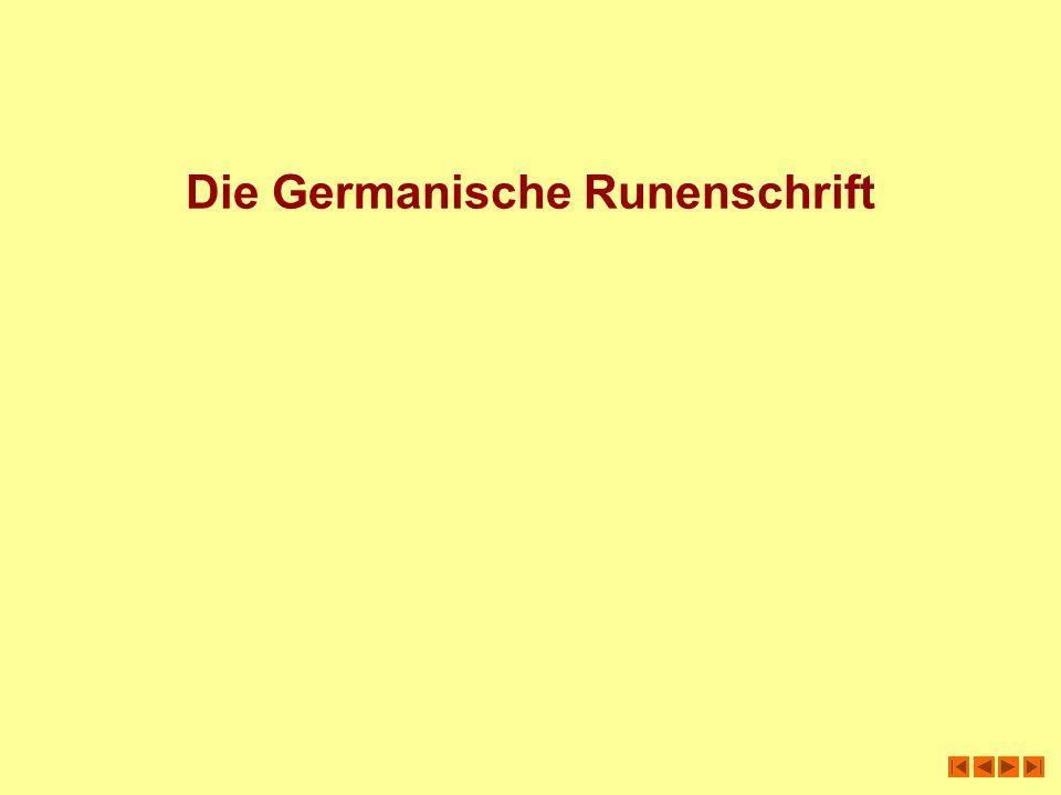 Die Germanische Runenschrift