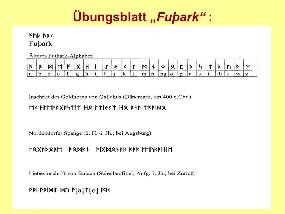 "Übungsblatt ""Fuþark :"