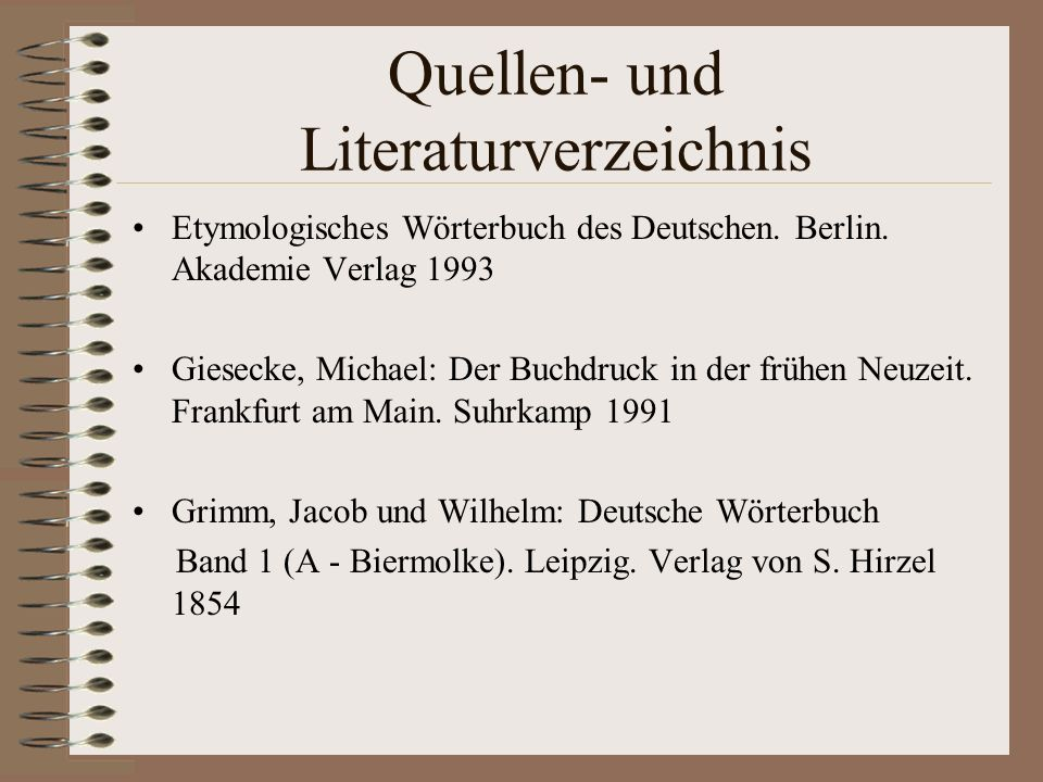 Quellen- und Literaturverzeichnis