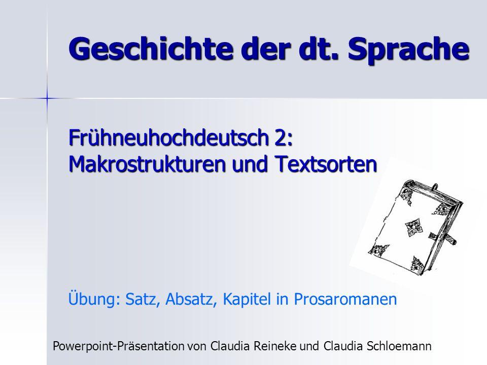 Geschichte der dt. Sprache