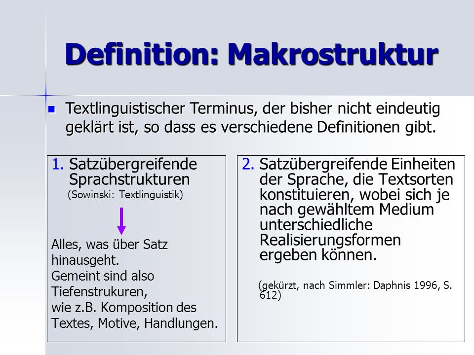 Definition: Makrostruktur