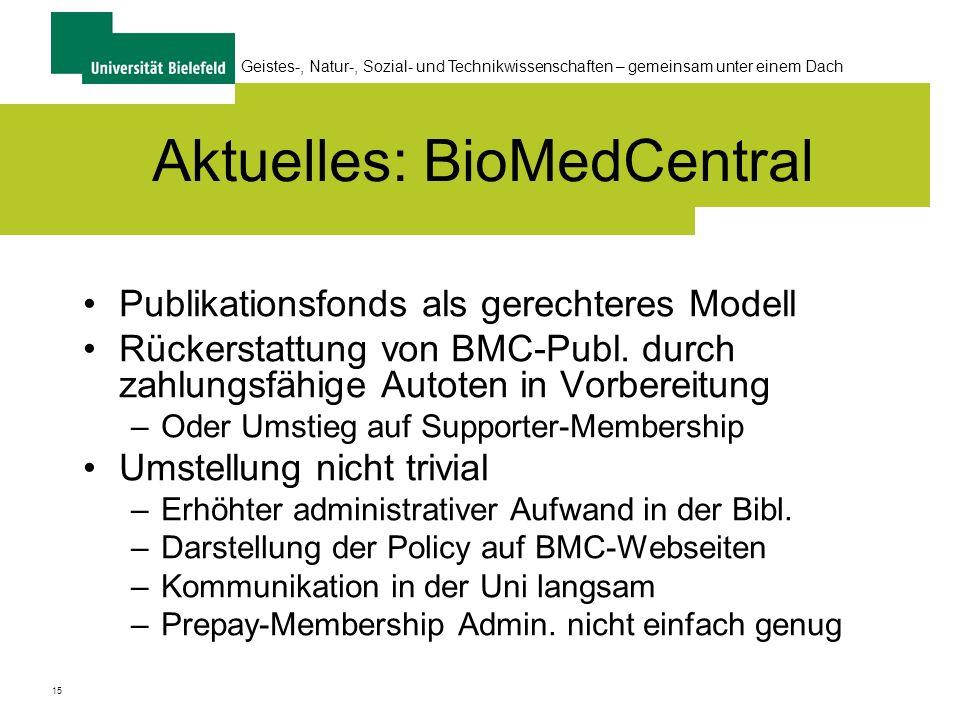 Aktuelles: BioMedCentral