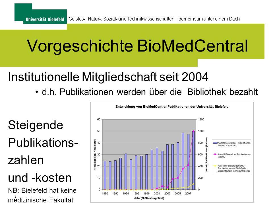 Vorgeschichte BioMedCentral