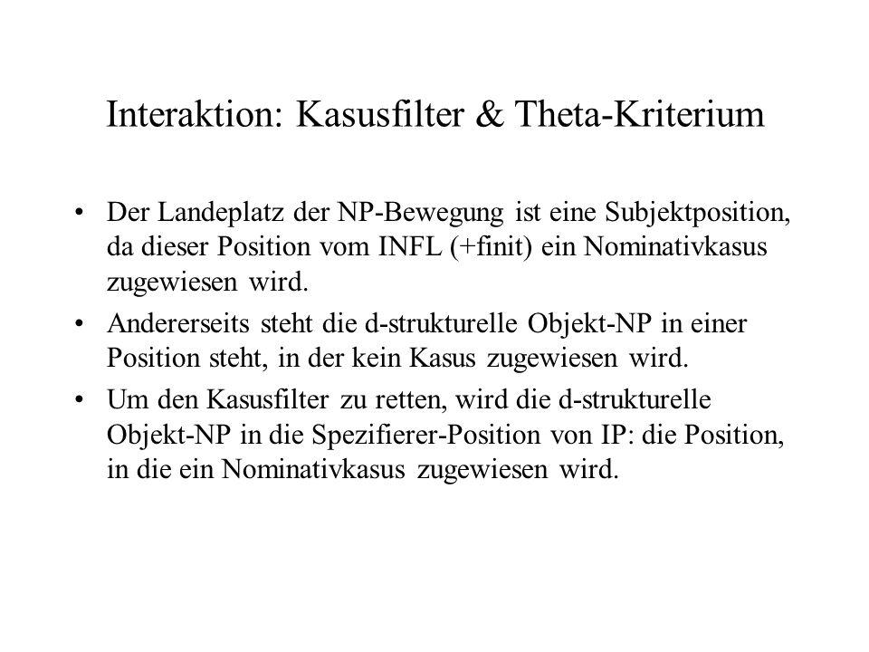 Interaktion: Kasusfilter & Theta-Kriterium