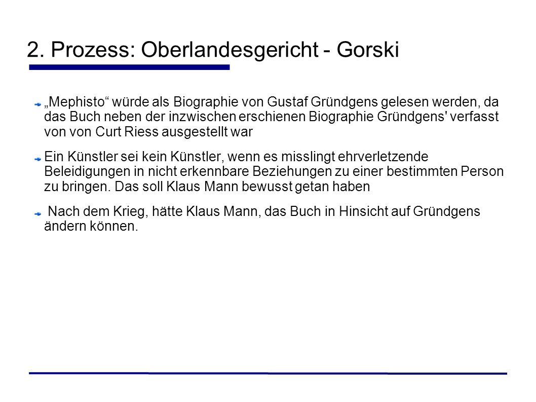 2. Prozess: Oberlandesgericht - Gorski