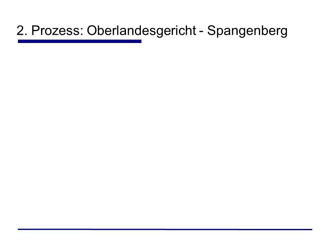 2. Prozess: Oberlandesgericht - Spangenberg
