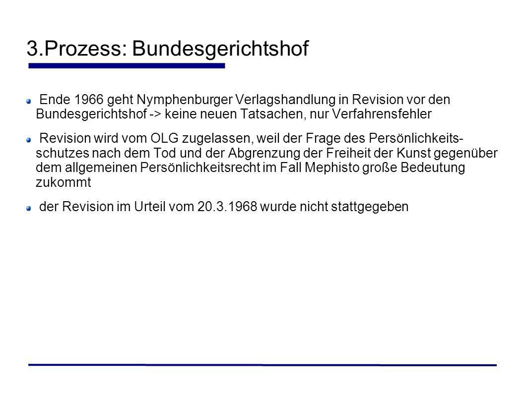 3.Prozess: Bundesgerichtshof