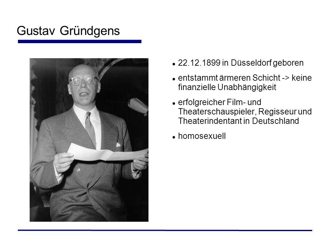 Gustav Gründgens 22.12.1899 in Düsseldorf geboren