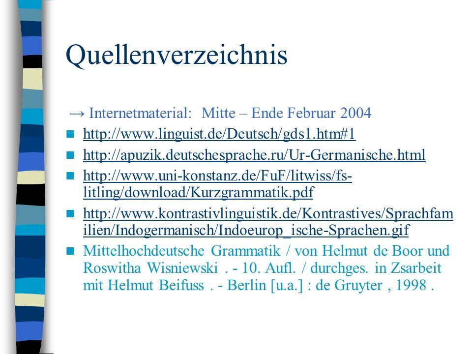 Quellenverzeichnis → Internetmaterial: Mitte – Ende Februar 2004