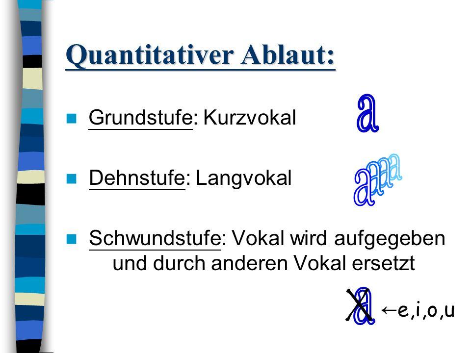 Quantitativer Ablaut: