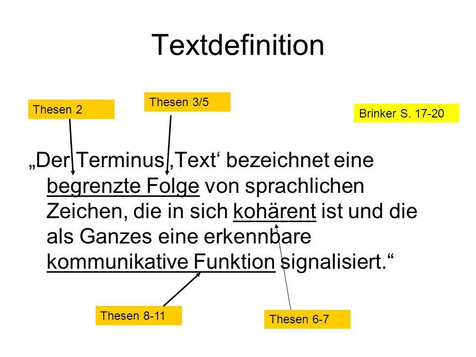 Textdefinition