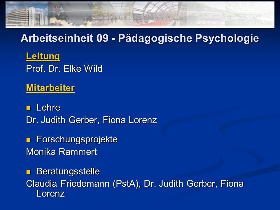 Arbeitseinheit 09 - Pädagogische Psychologie