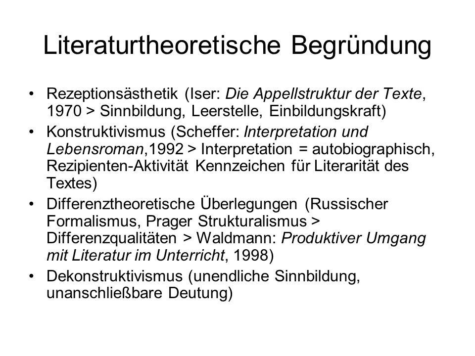 Literaturtheoretische Begründung
