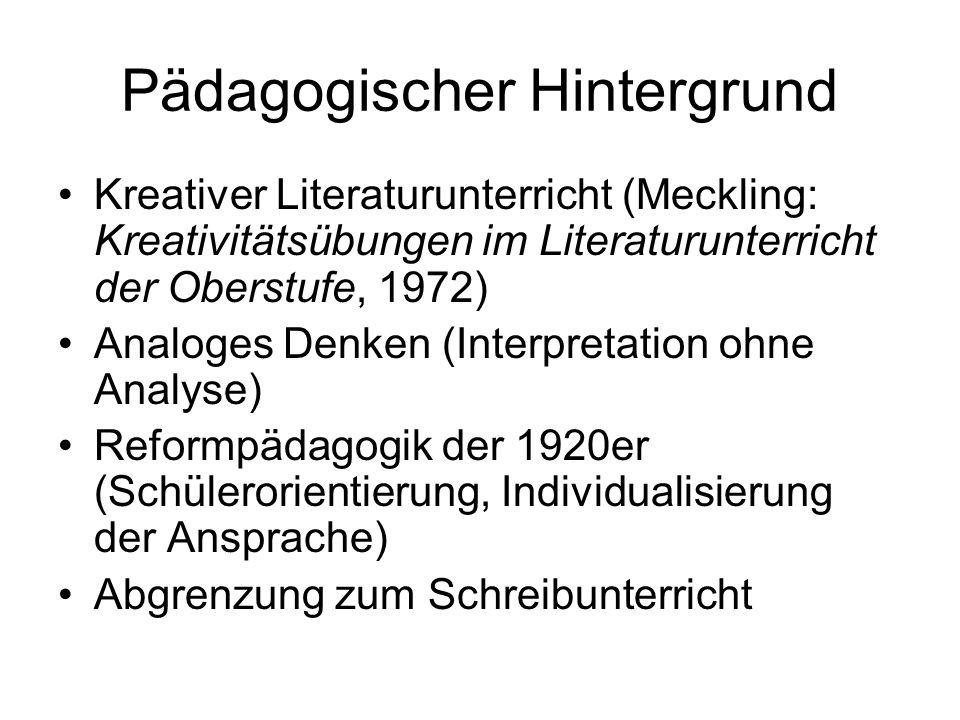 Pädagogischer Hintergrund