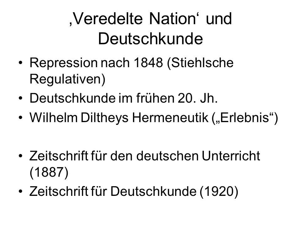 'Veredelte Nation' und Deutschkunde