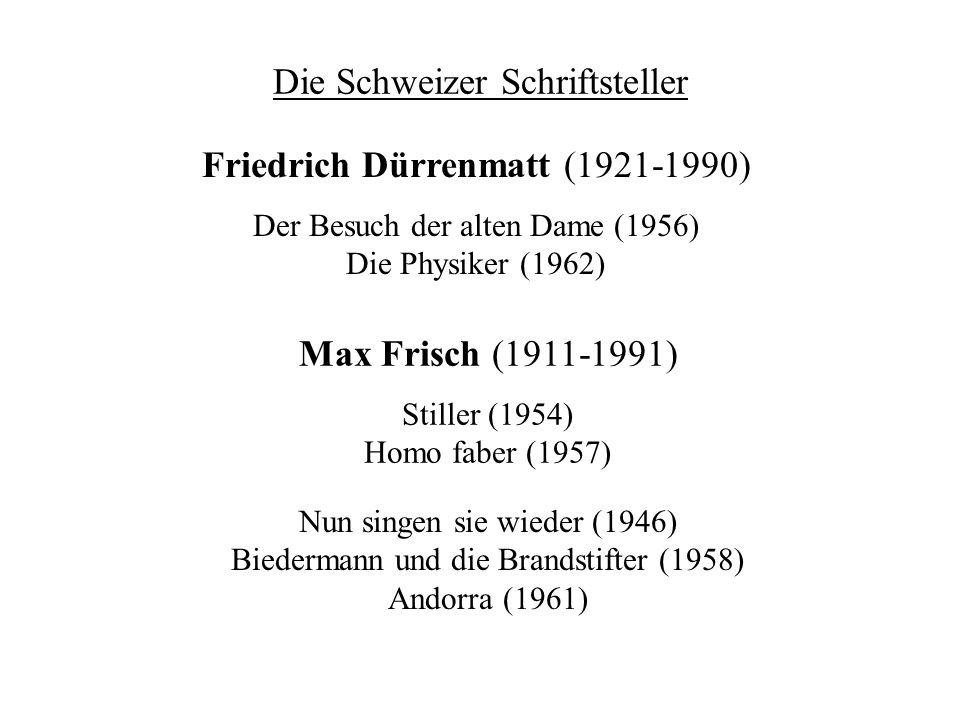 Die Schweizer Schriftsteller
