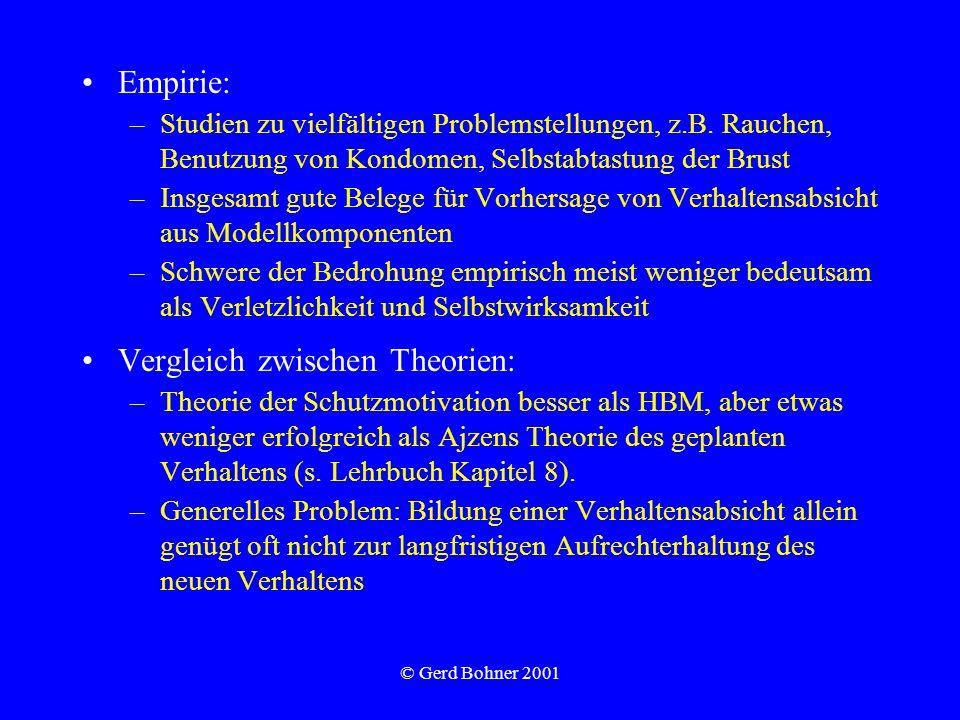 Vergleich zwischen Theorien: