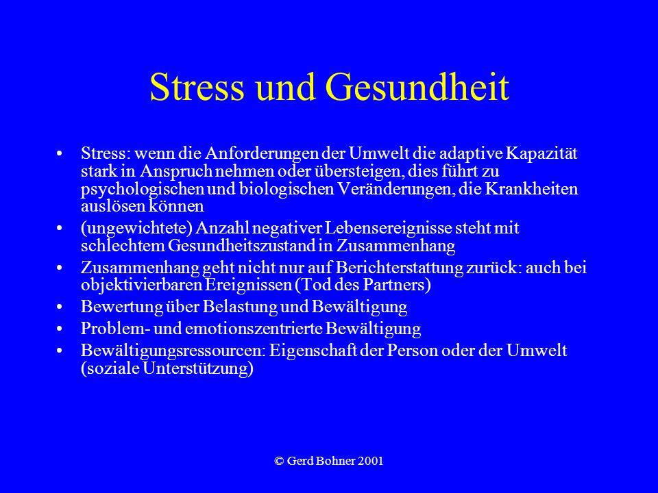 Stress und Gesundheit