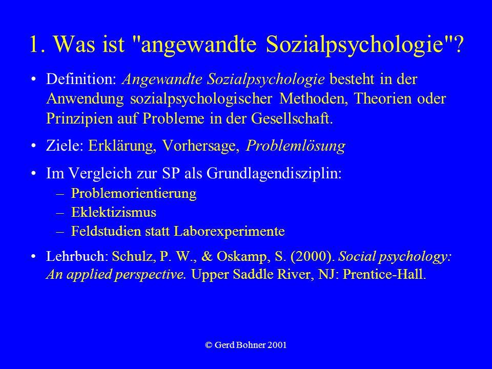 1. Was ist angewandte Sozialpsychologie