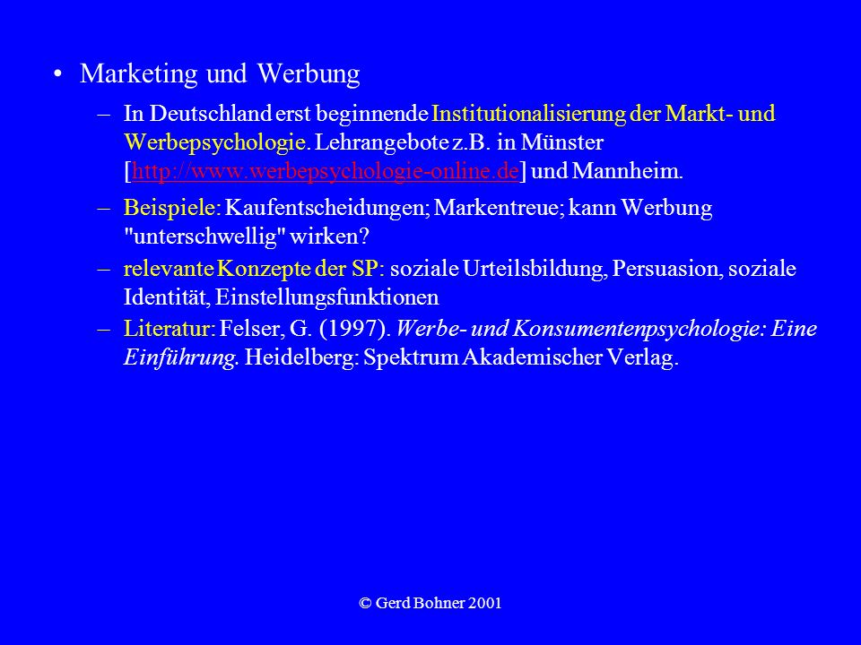 Marketing und Werbung