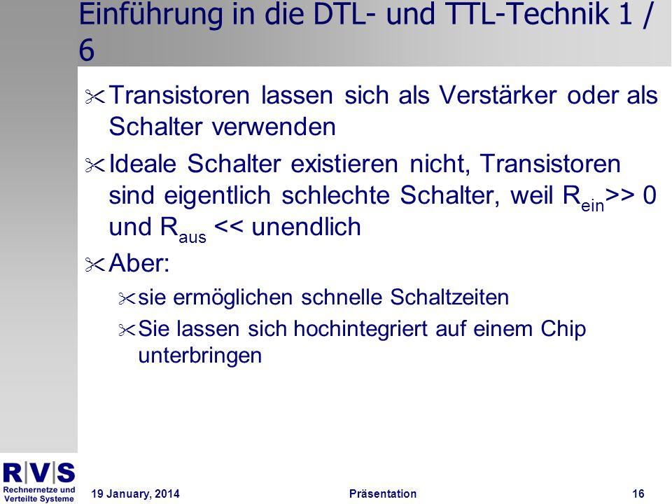 Einführung in die DTL- und TTL-Technik 1 / 6