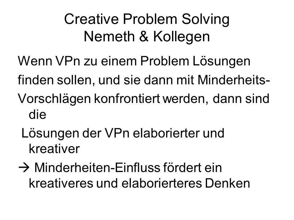Creative Problem Solving Nemeth & Kollegen