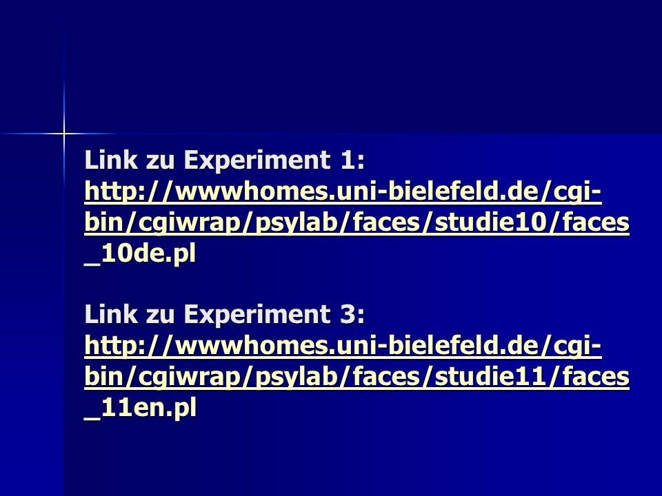 Link zu Experiment 1: http://wwwhomes. uni-bielefeld