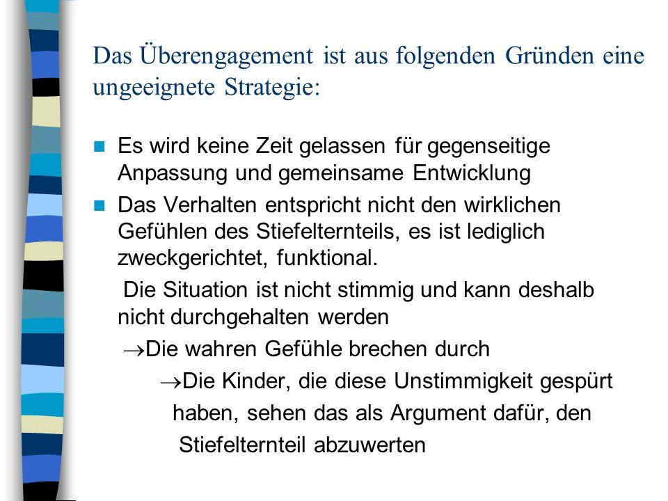 Das Überengagement ist aus folgenden Gründen eine ungeeignete Strategie: