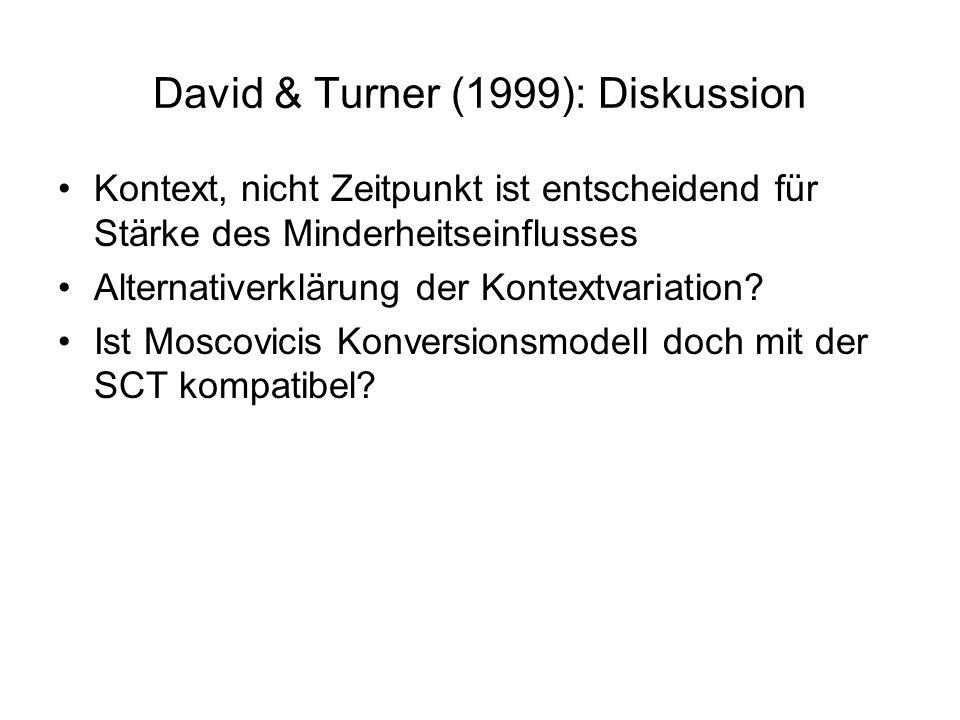 David & Turner (1999): Diskussion