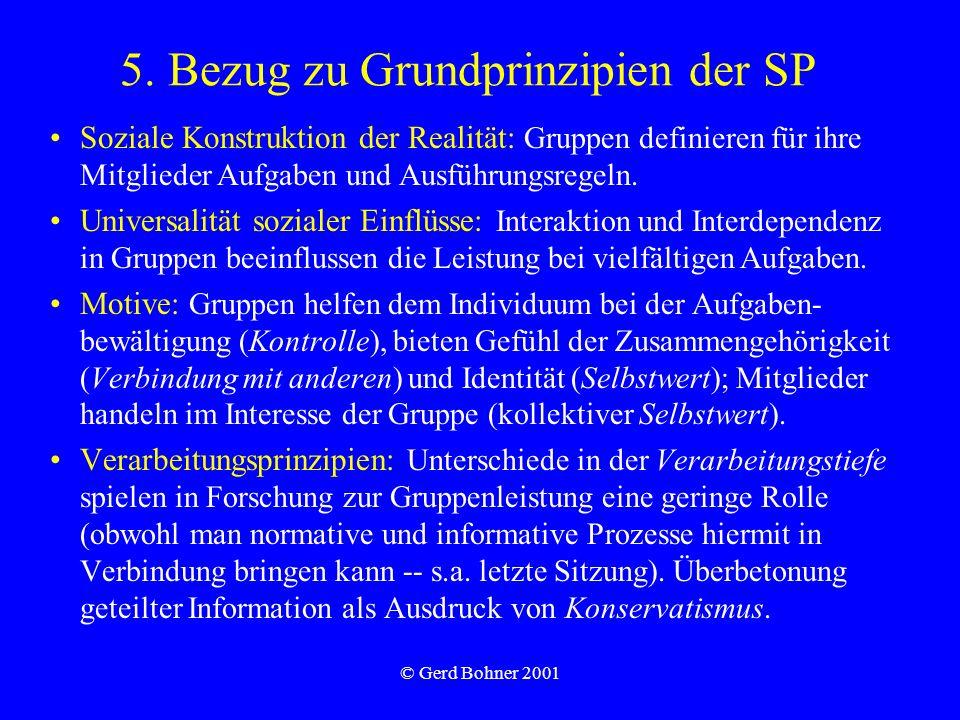 5. Bezug zu Grundprinzipien der SP