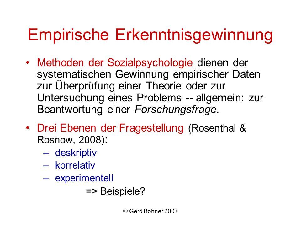 Empirische Erkenntnisgewinnung