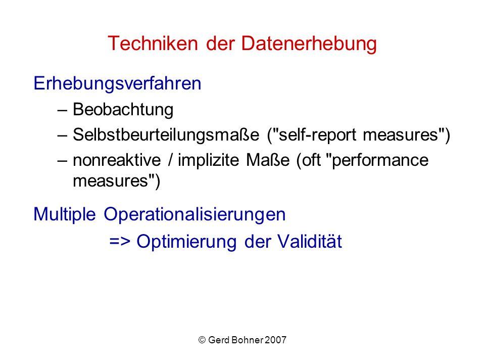 Techniken der Datenerhebung