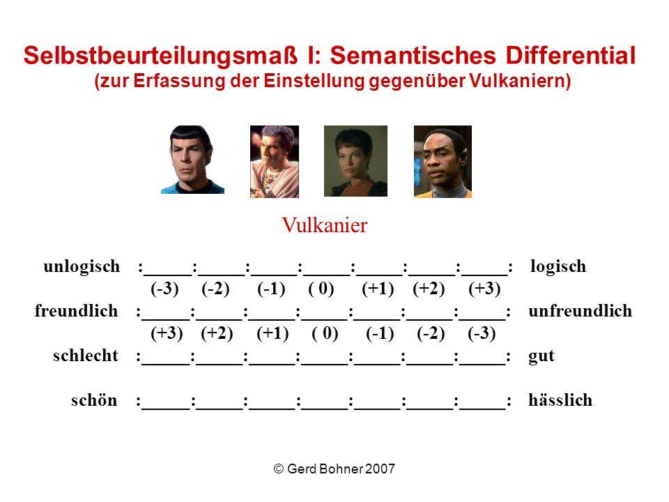Vulkanier Selbstbeurteilungsmaß I: Semantisches Differential