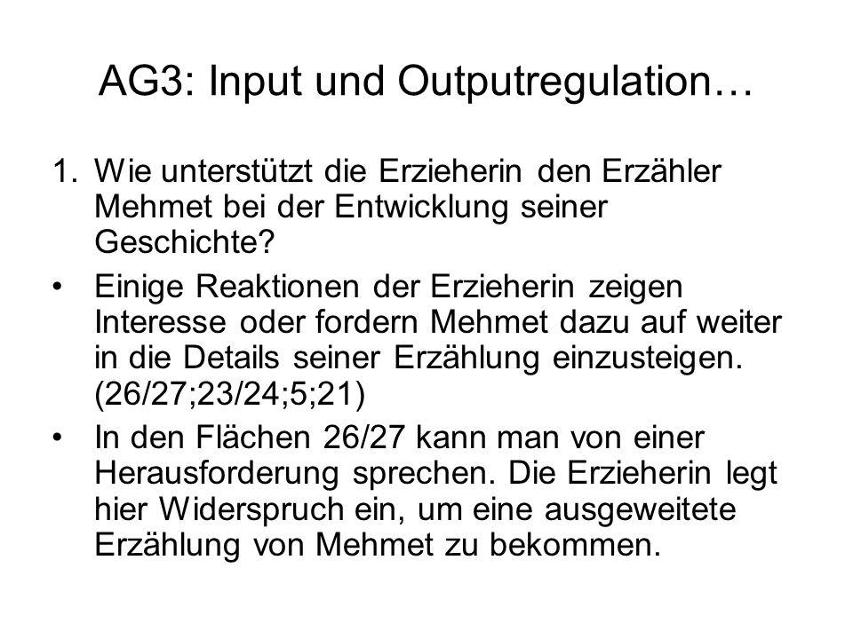 AG3: Input und Outputregulation…