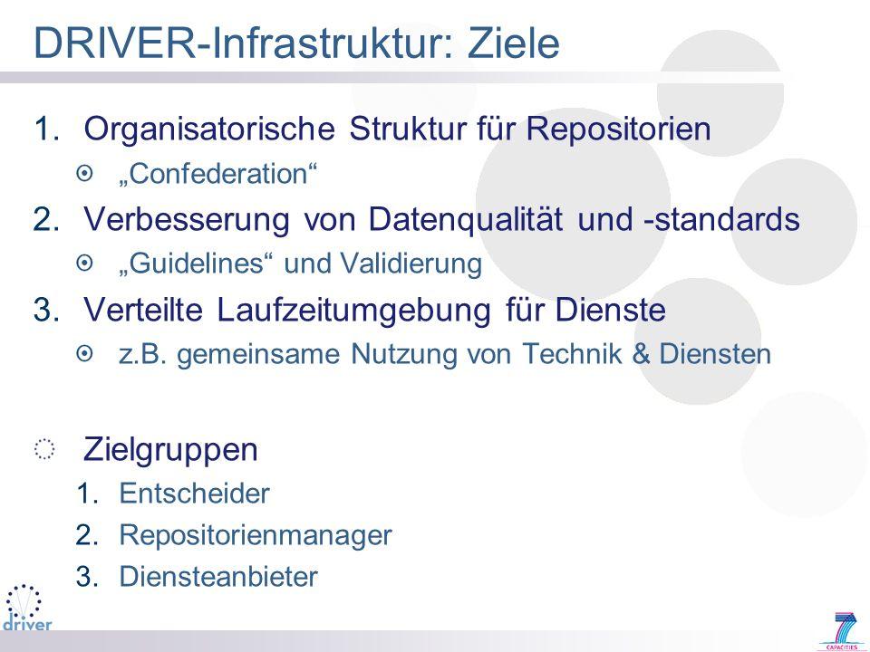 DRIVER-Infrastruktur: Ziele